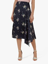 Ted Baker Anabell Flourish Asymmetric Midi Skirt Green Multi