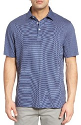 Peter Millar Men's Crown Stripe Polo Patriot Navy