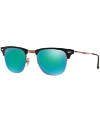 Ray Ban Sunglasses Ray Ban Rb8056 49 Light Ray Brown Shiny Green Mirrored