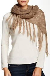 Lava Solid Crochet Scarf Beige