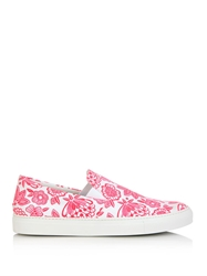 Christopher Kane Neon Flower Print Canvas Trainers
