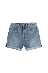 Marc By Marc Jacobs Denim Shorts With Sequins And Embroidery Blue