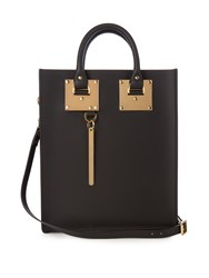 Sophie Hulme Mini Albion Leather Tote Black
