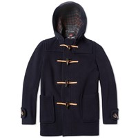 Gloverall X End. Mid Length Duffle Coat Navy