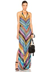 Missoni Mare Sleeveless Jumpsuit In Blue Metallics Geometric Print Blue Metallics Geometric Print
