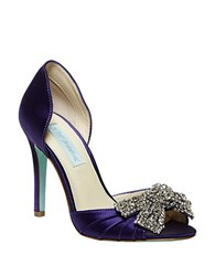 Betsey Johnson Gown Satin Pumps Purple