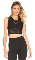 Beyond Yoga Sportflex Top Notch Cropped Tank In Black.