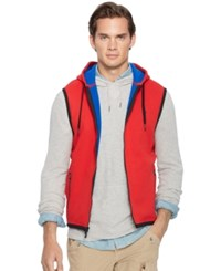 Polo Ralph Lauren Fleece Hooded Vest Rl 2000 Red