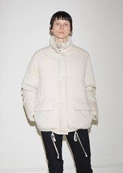 Helmut Lang Convertible Cotton Puffer Jacket Moonlight
