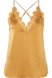 Cami Nyc The Everly Lace Trimmed Silk Charmeuse Camisole Gold