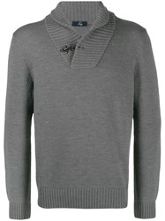 Fay Knitted Jumper Grey