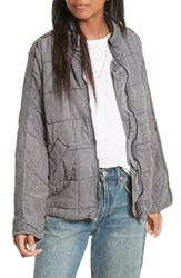 Free People Women's Dolman Quilted Jacket Black