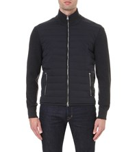 Tom Ford Quilted Shell And Wool Jacket Navy