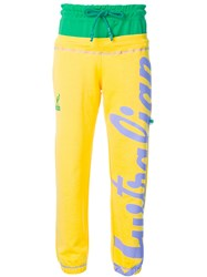 Gcds Printed Jogging Trousers Yellow And Orange