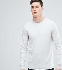 Selected Homme Tall Crew Neck Knit Jumper Bright White Beige