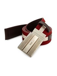 Bally Blended Cotton Belt Red Multi