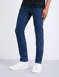 Boss Black Casual Slim Fit Straight Jeans Navy