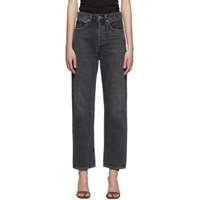 Agolde Black 90S Mid Rise Loose Fit Jeans