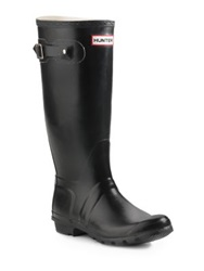 Hunter Original Tall Matte Rain Boots Hunter Green Black