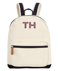 Tommy Hilfiger Pam Dome Backpack Natural Navy