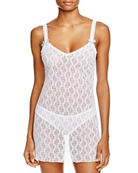 B.Tempt'd By Wacoal Lace Kiss Chemise White