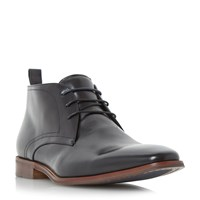 Dune Murray Two Toned Lace Up Chukka Boots Black