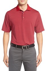 Bobby Jones Men's 'Edge Stripe Xh20' Stretch Golf Polo Rio Red
