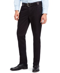 Kenneth Cole Reaction Slim Sateen Pants Black
