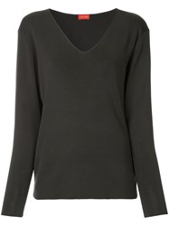 Des Pres V Neck Jumper Black