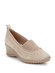 Ellen Tracy Waldo Slip On Wedges Fog