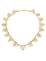 Adriana Orsini Barbara Pave Crystal Necklace Gold