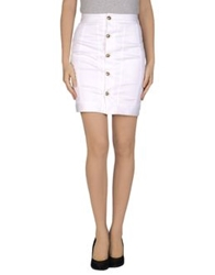 Dsquared2 Knee Length Skirts White
