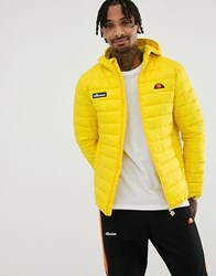 Ellesse Lombardy Padded Jacket In Yellow