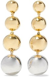 Elizabeth And James Gold Silver Tone Earrings Gold