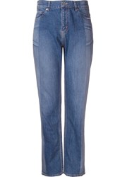 Serge De Blue Two Tone Straight Leg Jeans Blue