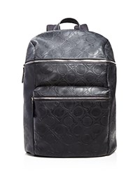 Salvatore Ferragamo Vegan Leather Gancio Four Backpack Nero