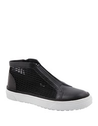 Delman Mckay Side Zip Sneakers Black