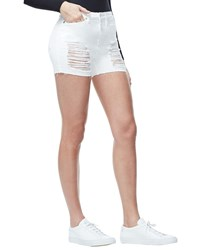 Good American The Cutoffs Shorts Inclusive Sizing White