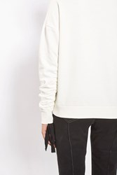 Topshop Ruched Sleeve Sweat Top By Boutique White