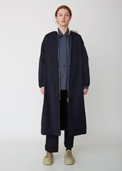 Jil Sander Gara Coat With Removable Hood Dark Blue