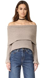 Ella Moss Avila Sweater Heathered Barley