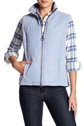 Barbour Quilted Front Zip Vest Blue