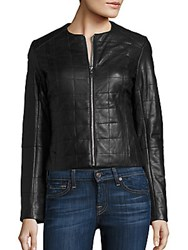 Dawn Levy Solid Leather Jacket Black
