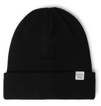 Norse Projects Merino Wool Beanie Black