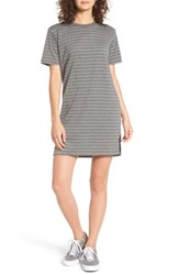 Cotton Emporium Women's Stripe T Shirt Dress Grey
