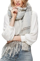Free People Women's Loveland Plaid Fringe Scarf