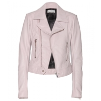 Balenciaga Leather Biker Jacket Parme