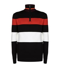 Mcq By Alexander Mcqueen Turtle Neck Knitted Zip Up Sweater Male Multi