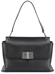 Tom Ford Day Shoulder Bag Women Cotton Calf Leather Polyester One Size Black