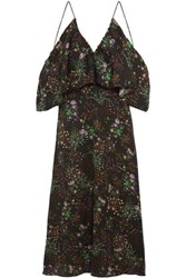W118 By Walter Baker Eleanor Off The Shoulder Floral Print Chiffon Maxi Dress Multi